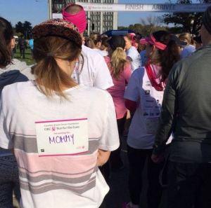 I'm running for mommy